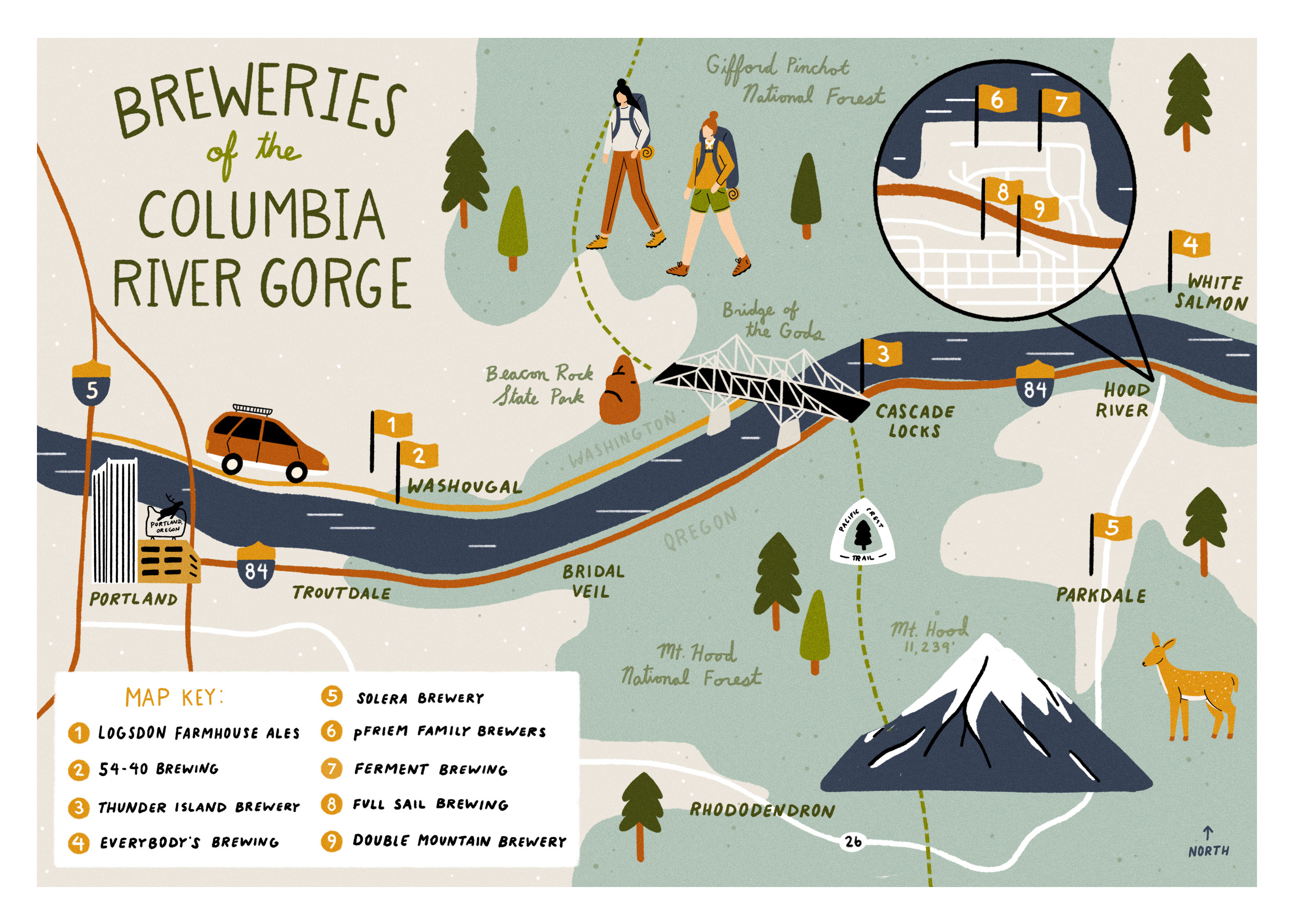A Craft Beer Journey Through The Columbia River Gorge October